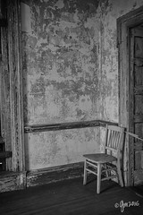 Caution (gmckel50) Tags: door abandoned hospital chair decay interior room urbanexploration decrepit urbex abandonedhospital