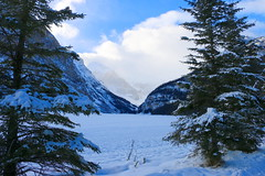 Lake Louise on a Winter's Day December 2014 (jmichael100) Tags: canada alberta lakelouise banffnationalpark victoriaglacier
