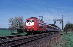 103 169  bei Ulm  01.05.97 (w. + h. brutzer) Tags: analog train germany deutschland nikon eisenbahn railway zug trains db locomotive 103 ulm lokomotive elok eisenbahnen e03 eloks webru