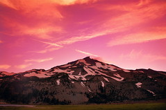 (mzistel) Tags: pink sunset mountain clouds oregon landscape outdoors tones southsister cascademountains cascaderange