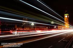 Big ben Light Trails (Steve Moore-Vale) Tags: london westminster night parliament bigben lighttrails