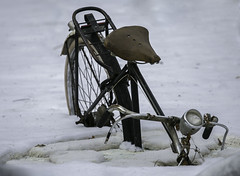 Oops ... ((Ruud) Reddingius) Tags: winter bike snow bicycle fiets outdoormuseum openluchtmuseum arnhem