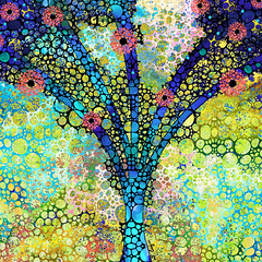 Inspirational Art - Absolute Joy - Sharon Cummings (BuyAbstractArtPaintingsSharonCummings) Tags: life flowers trees irish tree green love floral colors girl garden landscape religious happy hope living women colorful catholic peace gardening bue feminine vibrant religion joy victorian happiness stainedglass christian health fantasy pastels sacred jewish artdeco christianity judaism hebrew ornate spiritual healing primary mystic treeoflife jewel worldpeace heal sacredtree judaic livingtree landscapeprints colorfulprints buytreeoflifeprints