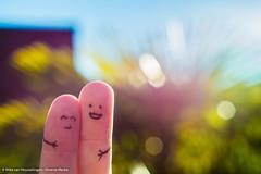 'The sunlight couple' (Mike van Houwelingen - DiverseMediaNL) Tags: blue sky sun sunlight color green contrast lens colorfull clear lensflare flare lucht zon blauwe zonlicht