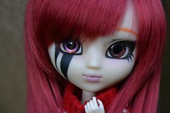 DSC_3202 (DollEmiou) Tags: red cute beautiful garden eyes dolls makeup jardin pullip redhair poupée obitsu nezumi stica beautifuldoll pullipfc pullipsticafc