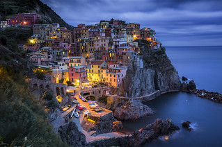 Manarola, night colors