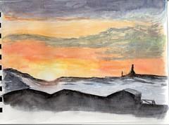 aube en hiver (ybipbip) Tags: sky cloud sun sunlight snow water watercolor landscape paint aquarelle jour peinture ciel watercolour neige acuarela nuage paysage pintura contre aquarela aquarell acquerello akvarell