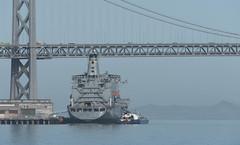 Pier 32 USNS Yukon 1-2016 (daver6sf@yahoo.com) Tags: ship baybridge sanfranciscobay portofsanfrancisco pier32 usnsyukon