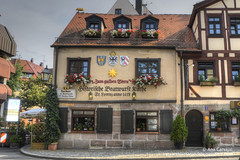 Best sausage ever (Alcu3- www.thisthatandthepassport.com) Tags: vacation building germany restaurant nuremberg restaurante sausage paisaje medieval alemania hdr flowerbox salchicha