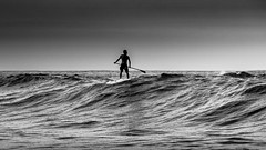 Looking for (Diego S. Mondini) Tags: sea brazil blackandwhite bw white black up brasil stand surf wave santacatarina pretoebranco sãofranciscodosul praiadomolhe