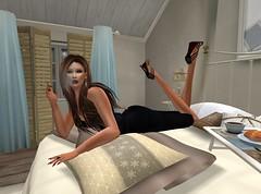 Sensual and elegant (Ellie Shepard (SSMA Model)) Tags: brown sexy beautiful fashion amazing goddess smoking secondlife sultry tall slink catwa