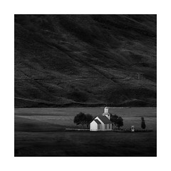 Shelter (Nick green2012) Tags: mountains church square landscape iceland valley tiny sanctuary