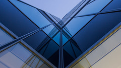 - Broken V Look UP - (Mr. LookUP II M.K.Z.P. II) Tags: street blue light sky urban broken glass beautiful yellow architecture facade canon with joel streetphotography front lookup straight 1022mm 2015 vlookup urbanexplore