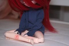 Une douce mlancolie. (Juju DollPassion) Tags: original red doll dolls wig pullip douce nella mlancolie obitsu