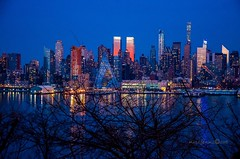 A view of Midtown Manhattan from Weehawken New Jersey. (mitzgami) Tags: nyc newyorkcity skyline landscape nikon flickr panoramic midtownmanhattan nikonphotography