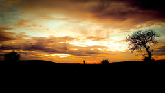 Solitude.. In The Middle of Loneliness.. (Ext-Or) Tags: light sunset shadow red sky sunlight man tree nature silhouette clouds landscape nikon flickr solitude alone loneliness silhouettes dramatic land lonely redsky dramaticsky tress lonelytree dramaticclouds flickrturkey nikonturkey remely nikond5200 inthemiddleofloneliness solitudeinthemiddleofloneliness silhoutteofhuman