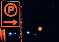 This Way (ikan1711) Tags: street signs night parkinglot streetlights streetsigns nightshots nightday streetscenes nightscenes parkingsigns westvancouverbc allsigns