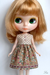 Blythe dress (Lin109) Tags: dress handmade sewing spice cotton blythe cassiopeia