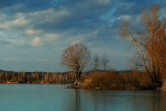 (tozofoto) Tags: travel trees winter sky lake holiday travelling water colors clouds canon landscape lights europe hungary shadows waterreflection zala tozofoto