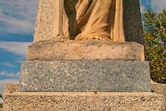 Corse du Sud, Sainte Lucie de Tallano. (Claudia Sc.) Tags: corse corsica monumentauxmorts socle sainteluciedetallano dioriteorbiculaire