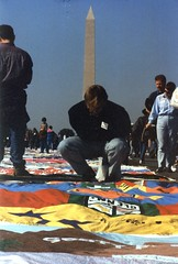 20.AIDSQuilt.WDC.13October1996 (Elvert Barnes) Tags: washingtondc dc aids 1996 nationalmall aidsquilt thenamesproject october1996 13october1996 sunday13october1996namesprojectaidsmemorialquiltdisplaywashingtondc october1996namesprojectaidsmemorialquiltdisplay namesprojectaidsmemorialquiltdisplay