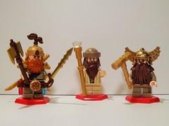 Dwarfs (Nilbog Bricks) Tags: lego dwarf lotr fantasy minifig custom hobbit minifigures brickarms brickforge