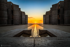 Equinox at the Salk Institute (cassianocarromeu) Tags: california sunset sun colors beautiful canon concrete star san diego institute astronomy hdr salk equinox 6d