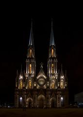 "Catedral, ""Santuario Guadalupano"", Zamora, Mich. (rogoDESIGN) Tags: street city urban building church architecture night mexico sony iglesia neogothic zamora carlzeiss a7ii neogotico neogotica zamoramichoacan cathedralgothic sony1635 rodrigogodinez"