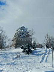 Castle, the only one in Hokkaido (Almagor 7) Tags: winter snow japan hokkaido discover sorachi nikoncoolpixp500 coolpixp500