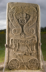 The Rodney Stone, Brodie in Moray, Scotland 2011 (Historic Environment Scotland) Tags: stone scotland symbol brodie hes canmore survey pictish moray 2011 pictishstone crossslab rodneystone rcahms moraycouncil historicenvironmentscotland dp099027