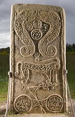 The Rodney Stone, Brodie in Moray, Scotland 2011 (Historic Environment Scotland) Tags: stone scotland symbol brodie hes canmore survey pictish moray 2011 pictishstone crossslab rodneystone rcahms moraycouncil historicenvironmentscotland dp099027