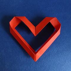 Single-module modular heart (Michał Kosmulski) Tags: red origami heart edge module unit michałkosmulski
