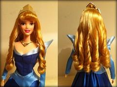 Curls (Disney_&_Collection) Tags: 2003 blue sleeping classic beauty rose doll dress princess ooak barbie disney aurora walt mattel briar 1959