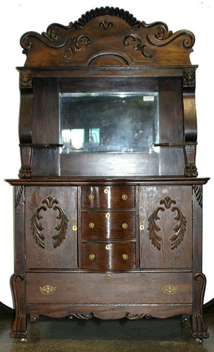 Oak Sideboard w/ Mirror $550.00
