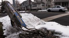 Post-Snowpocalypse (spencerhargiss) Tags: winter panorama broken accident outdoor destruction snowstorm cranford sigma30mmf28dn streetcornermarker