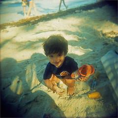 beach boy (thomasw.) Tags: travel beach analog holga cross playa puntacana crossed caribe karibik dominikanischerepublik sohnemann