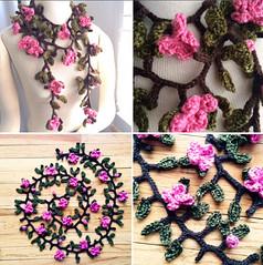 Crochet Garland Scarves (Creative Designs by Sheila) Tags: flowers scarf crochet garland scarves