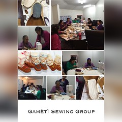 Here are the ladies of the #Gamètì Sewing Group who made the mini #Mukluks and vests for our store!  http://onlinestore.tlicho.ca (Tlicho Online Store) Tags: mukluks gamètì