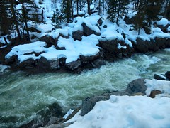 Icicle River in February 2 (Pictoscribe) Tags: winter snow river flow spring icicle wa february leavenworth 2016 pictoscribe