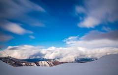 On top with the clouds (Alessandro Iaquinta) Tags: blue winter sky italy mountain snow nature canon walking landscape reflex italia colours adventure 5d fullframe dslr picoftheday naturephoto 5dmarkiii