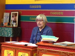 Laura Roth gave an introduction to Tibetan Language