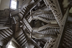 Escher's Nightmare (tj.blackwell) Tags: abandoned stairs photoshop lost loop infinity steps creepy spooky staircase dreams directions nightmare disturbing dreamlike labyrinth opticalillusion psychiatric psychology relativity neverending
