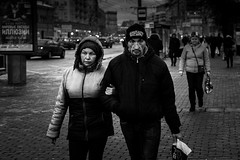 Bad boy and his bad girl (Jim35mm) Tags: street portrait people urban blackandwhite monochrome 35mm metro russia moscow sony poor streetphotography sharp newgeneration reportage sonyalpha mirrorless a6000 highclarity fritzler sonyimages sel35f18 sonyalpha6000 ilce6000 sonya6000 sonya600 jim35mm