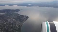 Return to Seattle (Sotosoroto) Tags: seattle airplane washington airport downtown queenanne aerial pugetsound ballard elliottbay seatac harborisland crownhill duwamish