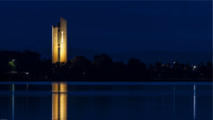 The Carillon on Lake Burley Griffin, 6 am (Photoma*) Tags: reflection dark canberra carillon