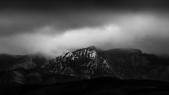 Old Boney [explored 3.13.16] (zzra) Tags: white mountain black mountains contrast landscape high key moody state low area wilderness boney