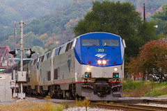 Capitol Limited (jim_zim) Tags: amtrak ge cumberland csx superliner p42 capitollimited
