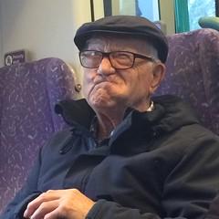 Grandad Ron (Elysia in Wonderland) Tags: family face train funny ron lancaster grandad alzheimers pulling dementia
