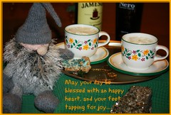 May the fiddles play and the songs speak from the heart-and perhaps a pint or two? Or an Irish coffee will do!  :-) (Sylvia...Sometimes) Tags: gnome irishcoffee bigaldavies celebration celtic stpatricksday