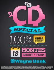 CD Typography Ad (Justin Roach Work Stuff) Tags: advertising typography design graphicdesign bank batman scranton nepa brucewayne honesdale 570 waynebank